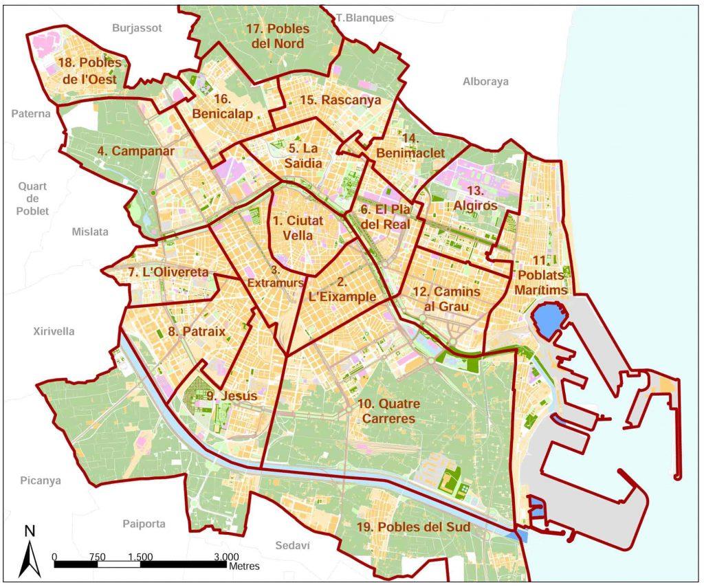 zonas donde alojarse en valencia