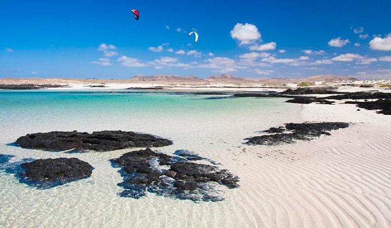 Playa de Los Charcos, una de las playas de Fuerteventura