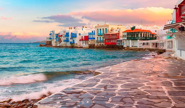 Miconos, uno de los destinos del crucero por las Islas Griegas