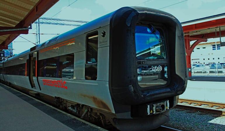 de Copenhauge a malmö en tren