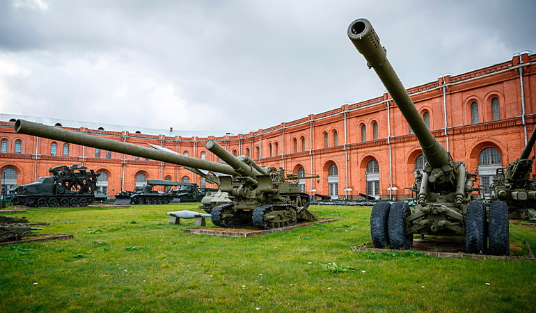 Museo de Artillería, uno de los museos de San Petersburgo más interesantes