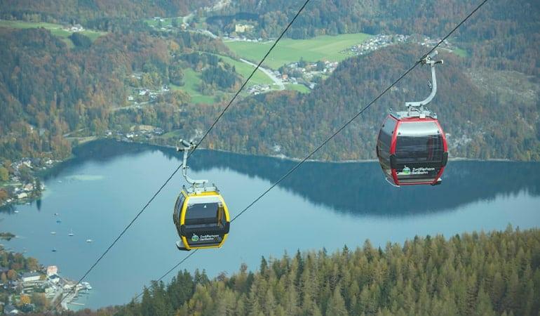 Zwölferhorn Seilbahn en Wolfgangsee
