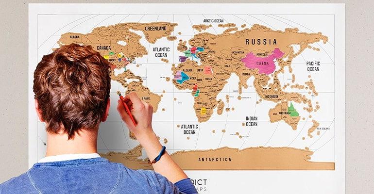 mapa mundi para rascar